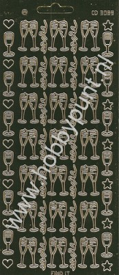 Stickervel Platinum Goud - Champagne - Carddeco - CD3089