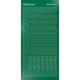 Hobbydots Serie 17  - Stickervel - Mirror Green - (stdm172)