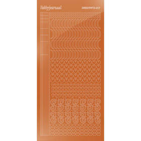 Hobbydots Serie 17 - Stickervel - Mirror Copper - (stdm17B)