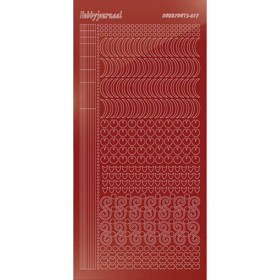 Hobbydots Serie 17  - Stickervel - Mirror Red - (stdm174)