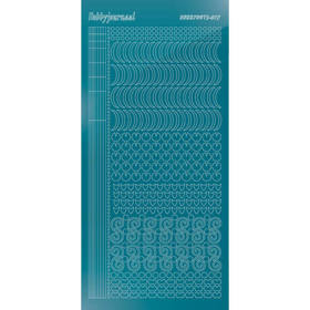Hobbydots Serie 17 - Stickervel - Mirror Turquoise - (stdm17D)