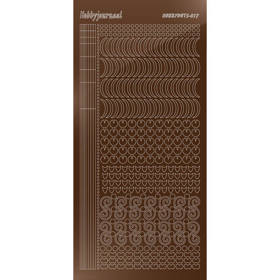 Hobbydots Serie 17 - Stickervel - Mirror Brown- (stdm17G)