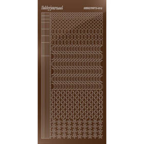Hobbydots Serie 16 - Stickervel - Mirror Brown- (stdm16G)