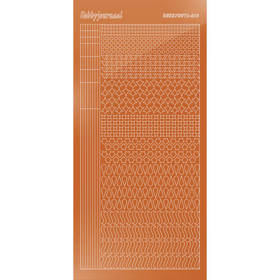 Hobbydots Serie 13 - Stickervel - Mirror Brown - (stdm13G)