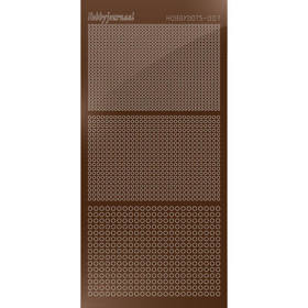 Hobbydots Serie 07 - Stickervel - Mirror Brown - (stdm07G)
