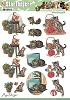 Push Out - Amy Design - Animal Medley - Cats - Carddeco - SB10026