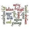 Sizzix Thinlits Die Set 17PK - Holiday Words: Script  Tim Holtz