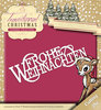 Die - Yvonne Creations - Traditional Christmas - Frohe Weihnachten - YCD10058