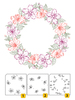 Layered Clear Stamps - Wreath-2 (3 pcs) - Nellie Snellen - LCS002