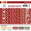 Card Deco - Designer Sheets - Autumn Colors - Rood - Cddsrd003