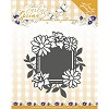 Snij- en Embosmal - Early Spring - Spring Flowers Square Label - Marieke - PM10113