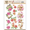 3D Pushout - Jeanine`s Art - Birds and Flowers - Pink birds - SB10320