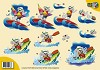 3D Knipvel - Creddy World - Card Deco- Surfen en Kano varen - CW10041