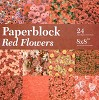 Paper Block- CreaMotion - Red Flowers - BPB424299
