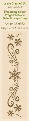 Border embossing folder snow - Leane Creatief -  LCR35.9982