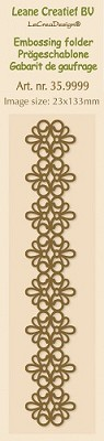 Border Embossing folder Lace - Leane Creatief - LCR 35.9999