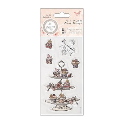 Mini Clear Stamp - Bellisima - Cupcake Stand - PMA 907194