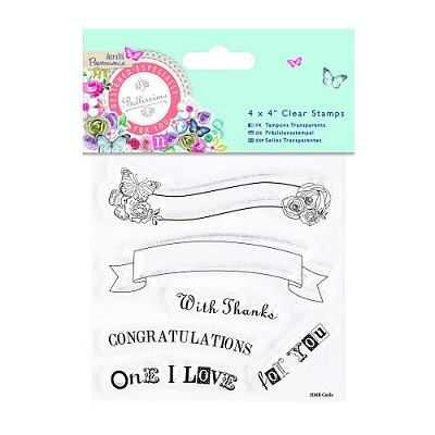 Clear Stamps - Bellissima - Text Banners - Docrafts - PMA 907216