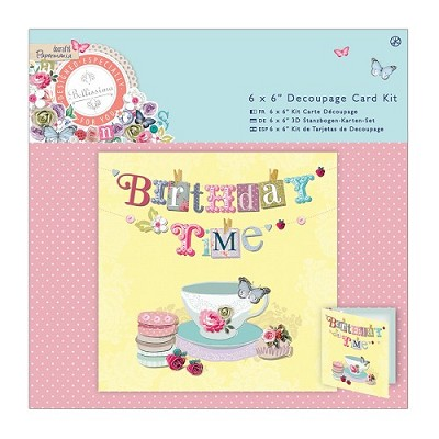 Decoupage Card Kit Foiled - Bellissima - Tea Time - PMA 169107