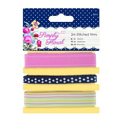 Stitched Trims - Simply Floral - Docrafts - PMA 358338