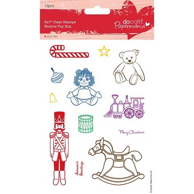 Clear Stamps - Festive Toy Box - Docrafts - PMA 907916
