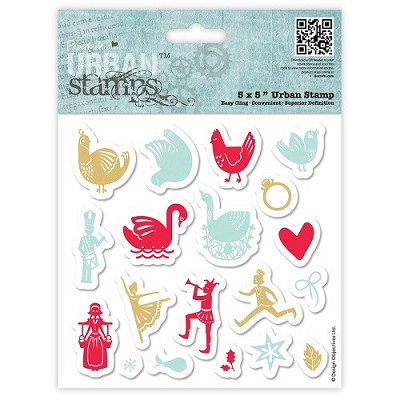 Urban Stamp - 12 Days of Christmas - Icons- Docrafts - PMA 907909