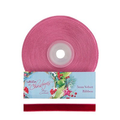 Velvet Ribbon  - Lucy Cromwell At Christmas - Purple - Docrafts - PMA 367601