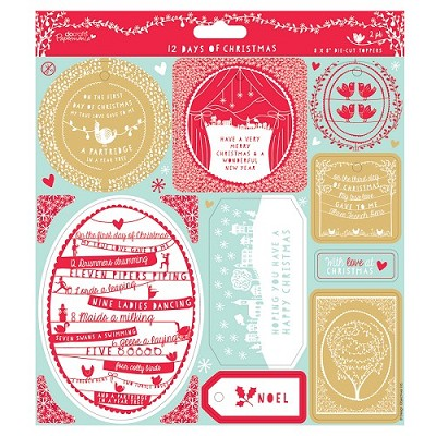 Die-cut Toppers (2pk)  ( Push Out )- 12 Days of Christmas - PMA 157208