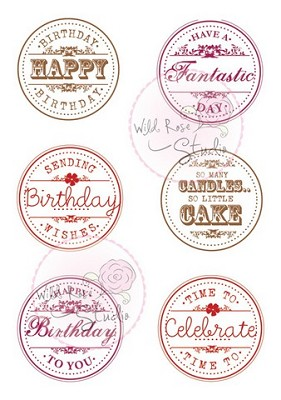 A7 stamp set Birthday Circles