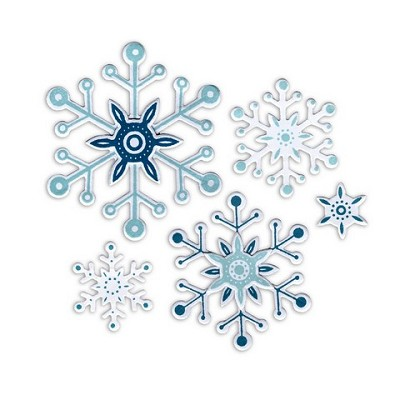 1 ST (8 ST) Framelits Die w/Stamps Snowflakes  Paula Pascual