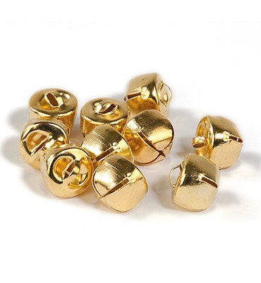 10 stuks Kattebelletjes 12 mm Goud - Hobby and Crafting Fun - 12239-3913