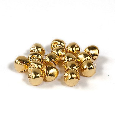 16 stuks Kattebelletjes 8 mm Goud - Hobby and Crafting Fun - 12239-3911