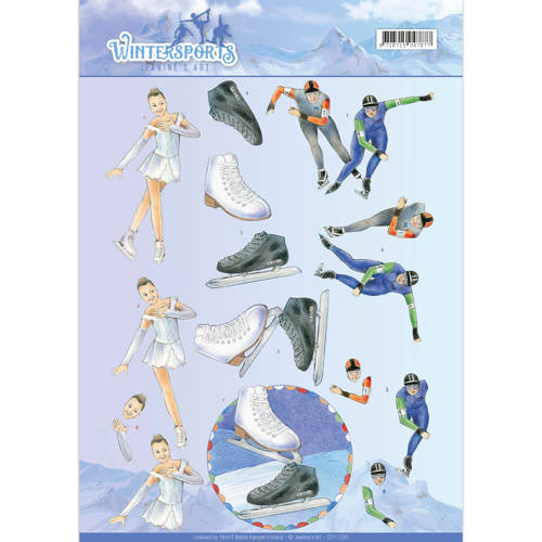 3D Knipvel - Jeanine`s Art - Wintersports - Ice Skating - CD11030