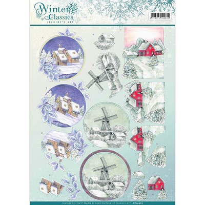3D Knipvel - Jeanines Art - Winter Classics - Christmas Landscapes - CD10967