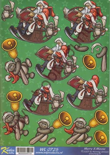 Knipvel kerstman in schommelstoel karlex hobby wl0725 for Schaukelstuhl 3d modell