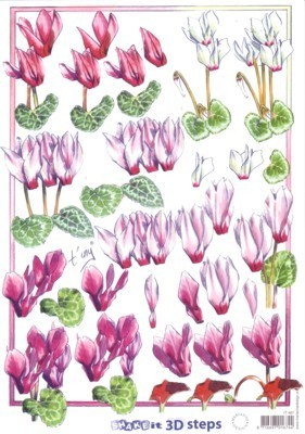 3D Knipvel - Cyclamen - Marianne Design - Tiny - IT487